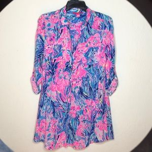 Lilly Pulitzer tunic / cover up m, XS